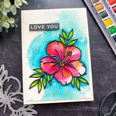 SSS Crafty Hugs Hibiscus Flower 1 cheiron Betty Wright, Deco Foil, Some Cards, Hibiscus Flowers, Simon Says Stamp, My Stamp, Cardmaking, Things To Come, Paper Crafts