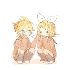 ❀ cute kagamine rin and len ❀ Vocaloid Kaito, Vocaloid Funny, Anime Siblings, Anime Couples Manga, Cute Anime Couples, Anime Girls, Len Y Rin, Kagamine Rin And Len, Chibi