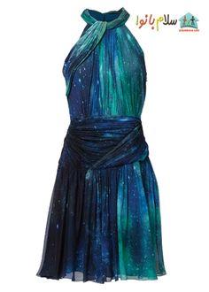 Love this: Sapphire Patina Galaxy Silk Chiffon Dress Chifon Dress, Pretty Dresses, Beautiful Dresses, Theme Galaxy, Galaxy Outfit, Bon Look, Gold Cocktail Dress, Cocktail Dresses, Crepe Dress