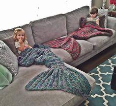 Crocheted Mermaid Tail Blankets