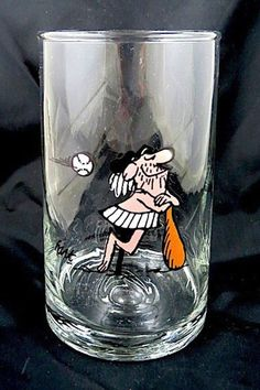 Hart Caveman Baseball Arby's B.C. Comic Ice Age Collector Glass Of Water 1981 #BCComicIceAge