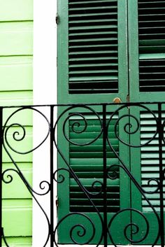 Green doors in the French Quarter