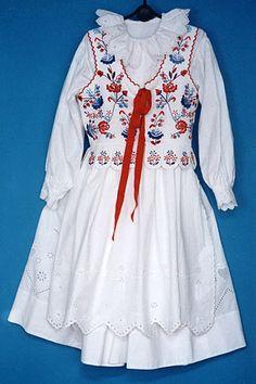 Wedding costume - vest, blouse, apron & underskirt