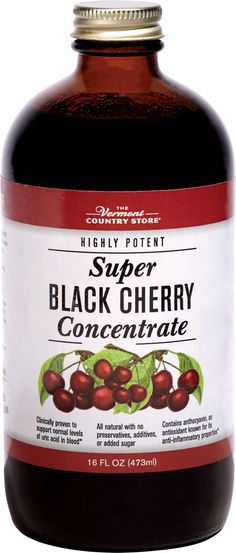 Studies show that cherries lower the levels of uric acid in the blood, the most common cause of gout pain. They're rich in anthocyanins, an antioxidant which helps relieve inflammation to maintain healthy joints, heart, and circulation, and when fortified with acai, noni, and pomegranate their effectiveness is increased.