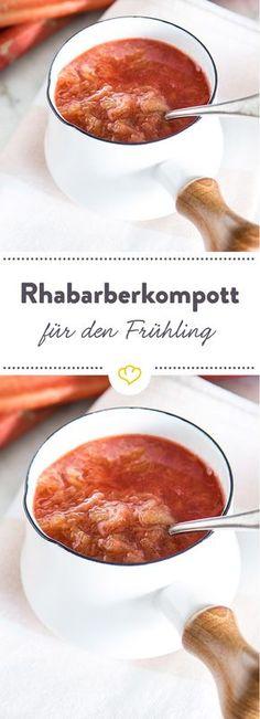 Was wäre der Frühling nur ohne das Stangengemüse? Einfach einkochen, ins Gläschen füllen und Tag für Tag genießen. Rhabarber-Kompott geht immer!