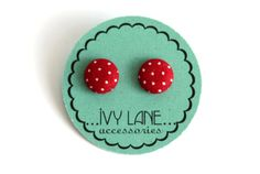 Hey, I found this really awesome Etsy listing at https://www.etsy.com/listing/170677447/deep-red-polka-fabric-covered-button