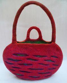 felt bag by Julia Rossi