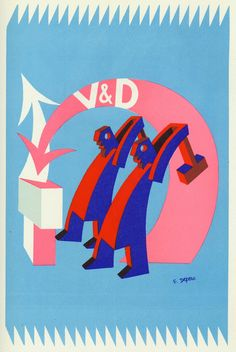 Illustration by Fortunato Depero for Veni. VD. Vici.