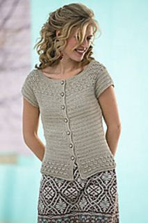 Kristy Cardigan crochet pattern by Dora Ohrenstein. Interweave Crochet, Spring 2010