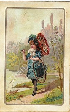 1854 Victorian Trade Card Victorian Young women by TheIDconnection, $18.00
