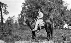 Portrait of Captain Edward Camden on a horse: Volusia County, Florida by State Library and Archives of Florida, via Flickr
