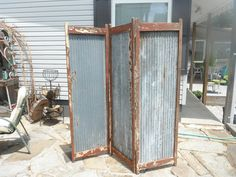 Primitive folding Screen. $135.00, via Etsy.