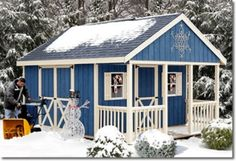 Sheds - Fairview with Porch Wood Storage Shed Kits
