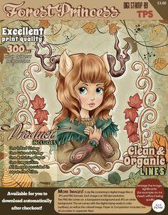 Forest Princess - Digital Stamp