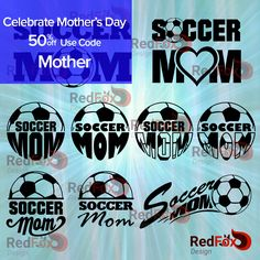 Soccer Mom - Mother's Day Special, SVG Cut File, DXF, Png, Eps, Pdf, Ai, Cricut, Silhouette Studio, Instant Download by RedFoxDesignShop on Etsy