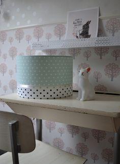 Mintgroene Babykamer Lamp, Luxe Lamp in mint kleur met Sterretjes. - Dreumes enZo Kinderwinkel