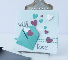 With Love envelope heart card. Make It Now with the Cricut Explore machine in Cricut Design Space.