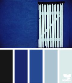 I love blue gates and doors. Okay, this is the reverse, but it still evokes hope and security and gentle change to me. {gated blues | design seeds}