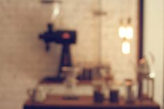 Abstract blur coffee shop background