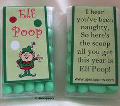 Elf Poop...this is hysterical.