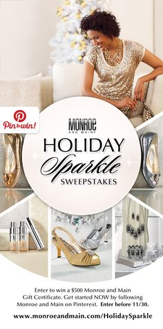 Find Your Holiday Sparkle & Enter to Win! It's our Holiday Sparkle Pinterest #Sweepstakes www.monroeandmain.com/HolidaySparkle