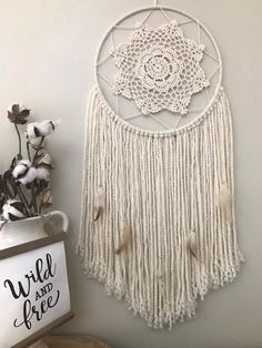 Shop Wild Cotton offers custom dream catchers, garlands and feathers in a large variety of colors and sizes. Custom orders are always welcome.