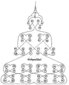 Yant Putta Nimit (Buddha Nimitta) - Buddha Apparition Yantra - Most Sacred  View Info Source Here - http://sak-yant.com/?page_id=2808