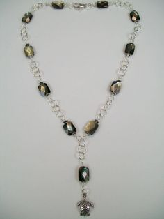 Turtle Time Mother of Pearl and Sterling Necklace