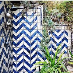 #weekendvibes and summer dreaming as found on the Insta-stream of @whitneyleighmorris /  #tiletuesday #instadecor #instadecor #tiles #tiled #tiling #tilework #interior #interiors #interiordesign #interiordesigner #interiorinspiration #idcdesigners #backsplashideas #chevron #zigzag #bluetiles #interiorinspiration #tile  #featurewall #splashback #walltiles #tilelove #instahome #ihavethisthingwithtiles #ihavethisthingwithwalls #tileaddiction / exact photo origin not known by tiletuesday