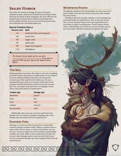 Sealed Horror (subclass).pdf - Google Drive Dungeons And Dragons Classes, Dungeons And Dragons Homebrew, Dungeons And Dragons Characters, Dnd Characters, Fantasy Characters, Dungeons And Dragons Races, Dnd Dragons, Dnd Sorcerer, Dnd Races