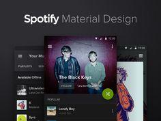 Spotify Material Design [Concept]