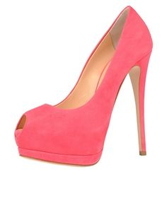 See and live your life in pink with those platform pumps by Giuseppe Zanotti
