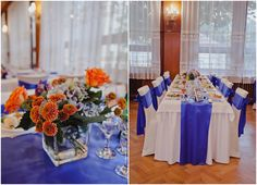 blue hydrangea with orange roses and chrysanthema Wedding Decorations, Table Decorations, Orange Roses, Blue Hydrangea, Wedding 2015, Wedding Table, Flowers, Home Decor, Decoration Home