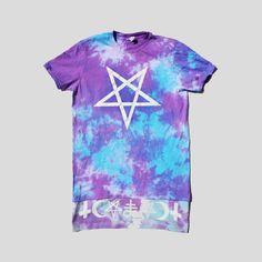 187a2efbf26c59 Pastel Goth Psychedelic Tie Dyed Symbolic Pentagram T-shirt