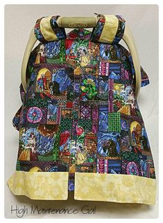 Carseat canopy Beauty and the Beast themed carseat cover Baby girl carrier cover Babyshower gift idea Nursery design idea Expecting Disney Baby Clothes, Baby Disney, Girls Cover Up, Princess Beauty, Punk Princess, Baby Cover, Baby Arrival, Men Style Tips, Baby Time