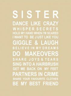 Sisters print - hardtofind.
