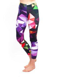 Yoga Leggings - Colorful Geometric Print