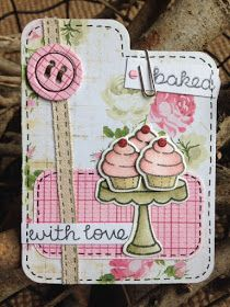 Crafty Lou's Small World.: Sweet Baking stamp set and Tab Die from Lawn Fawn
