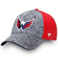 50dcb4ea346 Men s Washington Capitals Fanatics Branded Heathered Black Iconic Speed  Flex Hat Flex Fit Hats