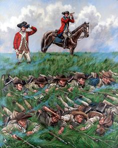 Continental Troops on Perrine's Hill, Battle of Monmouth, NJ American Revolutionary War, American War, Early American, American History, American Soldiers, Independence War, American Independence, Military Art, Military History