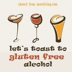 Gluten Free?  Here's some great suggestions for GF drinks to ring in the new year - Cheers!