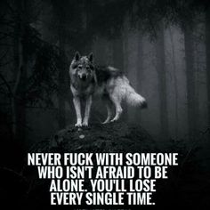 The Lone Wolf Mentality. The lone wolf lives by the belief that they have to do life alone.that no one truly has their back. As an animal a lone wolf is awolfthat lives independently rather than with others Motivacional Quotes, Dark Quotes, Strong Quotes, Wisdom Quotes, True Quotes, Funny Quotes, Lone Wolf Quotes, Wolf Pack Quotes, Wolf Qoutes