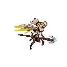 "Mercy joins the animated ""Pixel Spray"" crew!"