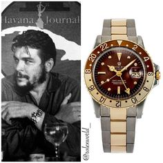 Che Guevara's espresso Rolex GMT 1675 Sport Watches, Cool Watches, Rolex Watches, Watches For Men, Rolex Vintage, Rolex Gmt Master, Plexus Products, Omega Watch, Espresso