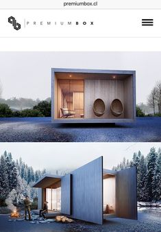 Cabin Design, Tiny House Design, Modern House Design, Tiny House Cabin, Silo House, House Porch, Casas Containers, Backyard Studio, Container House Design