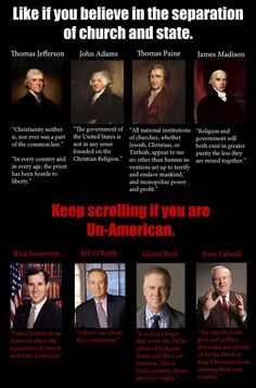 founding fathers separation of church and state - Google Search