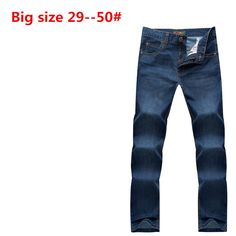 >> Click to Buy << Plus Big 50 48 46 44 42 9XL 8XL 7XL 6XL 5XL Brand men jeans loose straight classic casual business true jean high quality #Affiliate