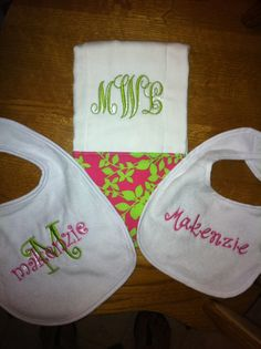 LMG Embroidery Bibs and Burp Clothes
