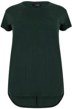 Dark Green Pocket Detail T-Shirt With Dipped Hem Pocket Detail, Essentials, Dark, Green, T Shirt, Clothes, Tops, Fashion, Supreme T Shirt