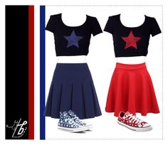 """""""✰ Happy 4th of July ✰"""" by bgmmstore ❤ liked on Polyvore featuring Diane Von Furstenberg, Converse, croptop, 4thofjuly and Tshirt"""